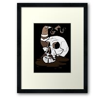 Colonel Pigeonpipe's Skull Framed Print