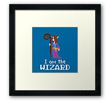 I am the (lady) Wizard Framed Print