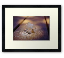 Solid Cube Framed Print
