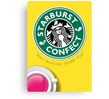 Starburst Starbucks Crossover Canvas Print
