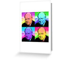 Winston Churchill - Pop Art Greeting Card