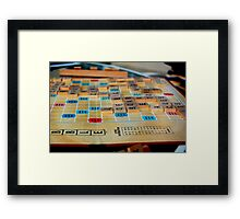 Scrabble Game Framed Print