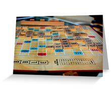 Scrabble Game Greeting Card