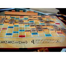 Scrabble Game Photographic Print