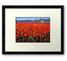 Holland Tulip Field Framed Print