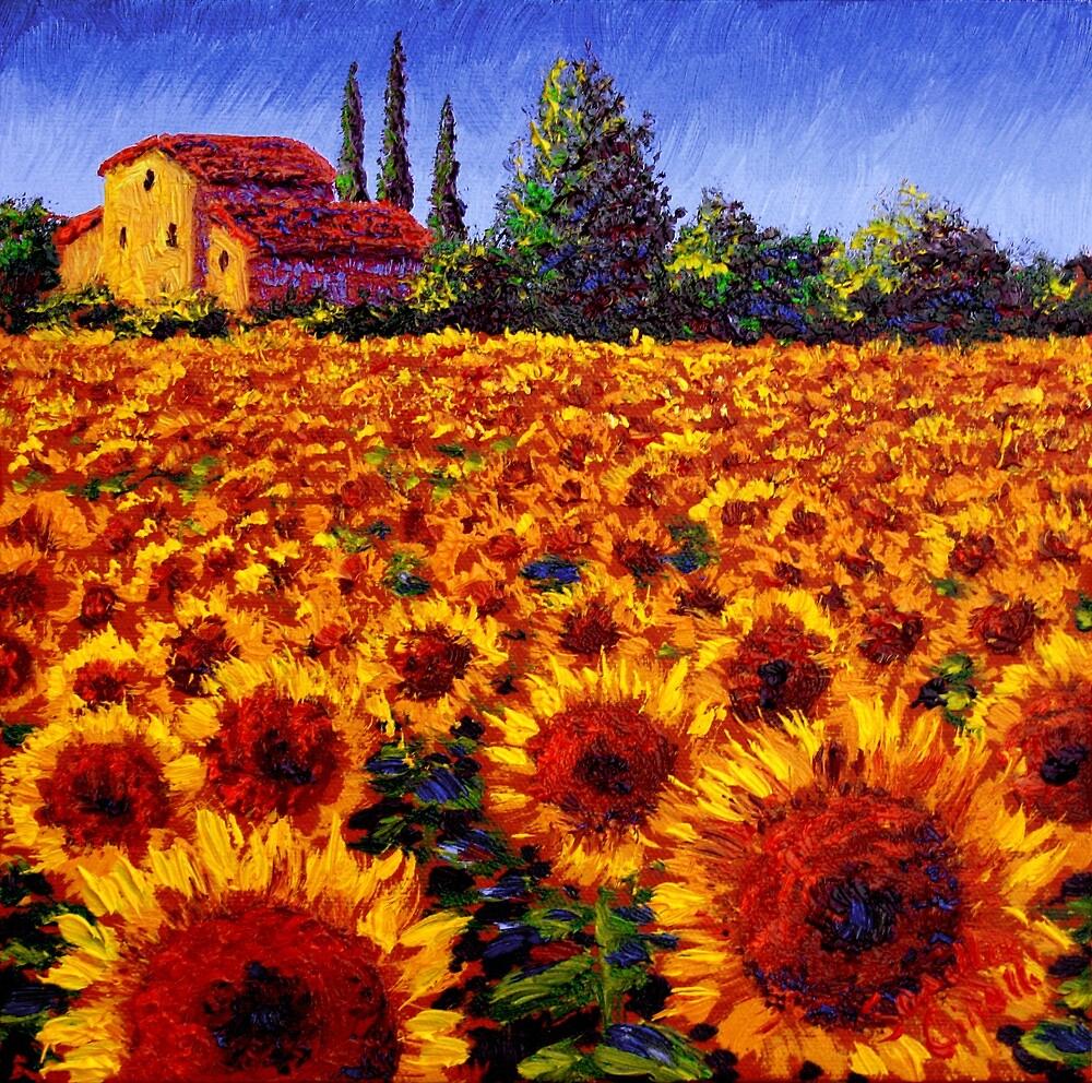Provençal Sunflowers by sesillie