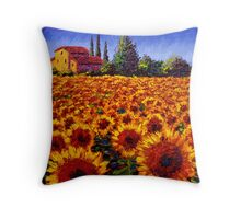 Provençal Sunflowers Throw Pillow