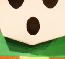 Green Paper ShyGuy Sticker
