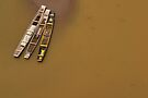 Boats, Nong Khiaw, Laos by Syd Winer