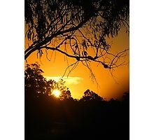 Orange Sea of Sunset Photographic Print