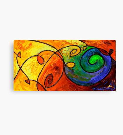 Swirl in the Candy Sea Canvas Print
