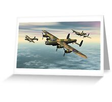 A Flight of Avro Lancaster bombers Greeting Card