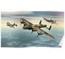 A Flight of Avro Lancaster bombers Poster