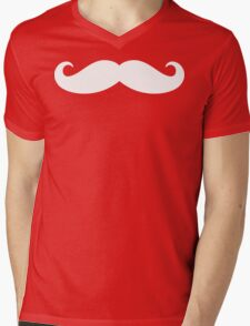 Mustache  Mens V-Neck T-Shirt