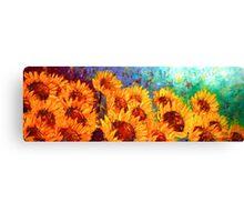 The Sunflower Rising Canvas Print