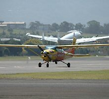 Aerial Patrol Cessna, Constellation In Background by muz2142