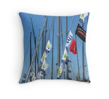 Lauceston to Hobart - flags Throw Pillow