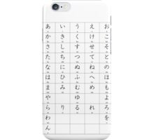 Hirigana chart iPhone Case/Skin