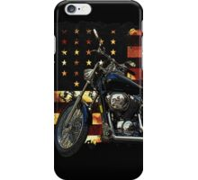 Union Flag, Stars and Stripes, Motorcycle iPhone Case/Skin