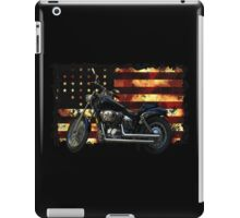 Union Flag, Stars and Stripes, Motorcycle iPad Case/Skin