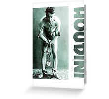 Harry Houdini in Chains Greeting Card