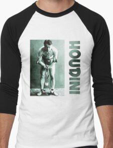 Harry Houdini in Chains Men's Baseball ¾ T-Shirt