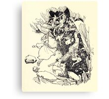 The Zankiwank & the Bletherwitch by Shafto Justin Adair Fitz Gerald art Arthur Rackham 1896 0135 Red Cavern Swallows All Canvas Print