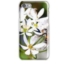 "Bee on White Allium ""Graceful"" iPhone Case/Skin"