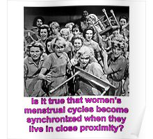 Synchronized Menstrual Cycles Poster