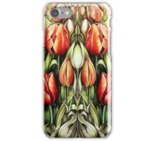 Mirrored Field of Tulips in Colour iPhone Case/Skin