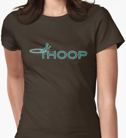 iHOOP (teal) Womens Fitted T-Shirt