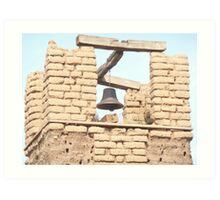 Brick Belltower at the Taos Pueblo. Art Print