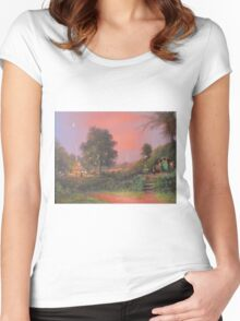 The Party Tree{ Bilbo Baggins Eleventy-First Birthday} Women's Fitted Scoop T-Shirt