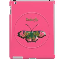 Volume butterfly on a pink background iPad Case/Skin
