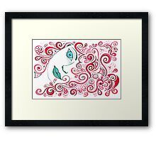 Curly Red Framed Print