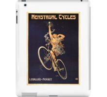 Vintage Bicycle Poster Parody - Menstrual Cycles iPad Case/Skin