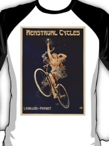 Vintage Bicycle Poster Parody - Menstrual Cycles T-Shirt