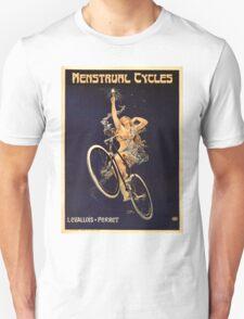 Vintage Bicycle Poster Parody - Menstrual Cycles T-Shirt