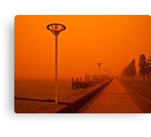 Red Harbour Canvas Print