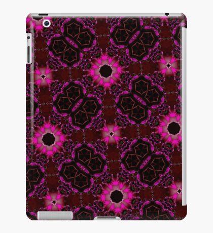 random pattern pink purple iPad Case/Skin