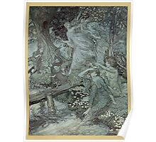 Comus Illustrated by Arthur Rackham 1921 0053 Maidens at Water's Edge Poster