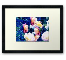 Abstracted Composition With Roses Framed Print