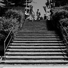 B&W Stairs by Bryan Cossart