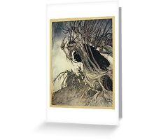 Comus Illustrated by Arthur Rackham 1921 0075 Roots and Branches Greeting Card