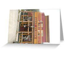 Bent Elbow Saloon Bar, Silverton, Colorado. Greeting Card
