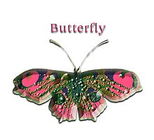 Pink Crystal Butterfly Photographic Print