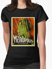 Metropolis - Vintage Sci-Fi Film by Fritz Lang Womens Fitted T-Shirt