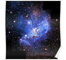 Magellan Nebula [Blue]   Fresh Universe Poster