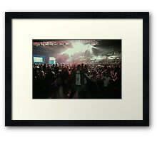 Red and Black Vector Arena Framed Print