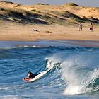 Body Boarding - Nobbys Beach NSW by Bev Woodman